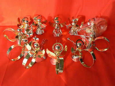 11 Vintage Silver Plated Angel Napkin Rings by Timeless Treasures