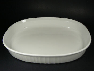 Corning Ware French White Oval Shallow Open Roaster F-4-B 2.5 LITER RESERVED