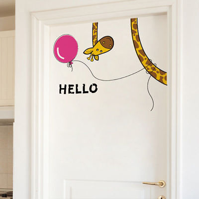 Giraffe Removable Self-adhesive Kids Nursery Room Decals Door Wall Sticker Decor
