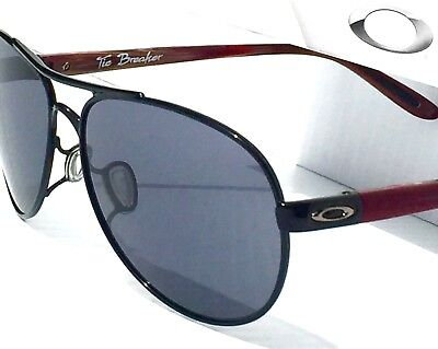 NEW* Oakley TIE BREAKER Aviator Burgundy Women's Black Irid Sunglass oo4108-07