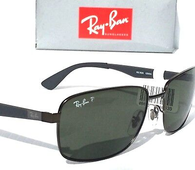 5c786a478c NEW  Ray Ban Gunmetal   Matte Black w POLARIZED Green Lens Sunglass RB 3529  029