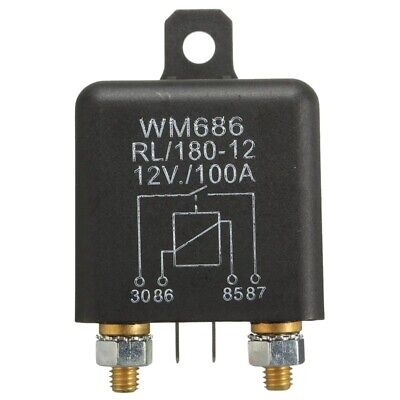 12V 100Amp 4-Pin Heavy Duty ON/OFF Switch Split Charge Relay For Auto Boat P4A1