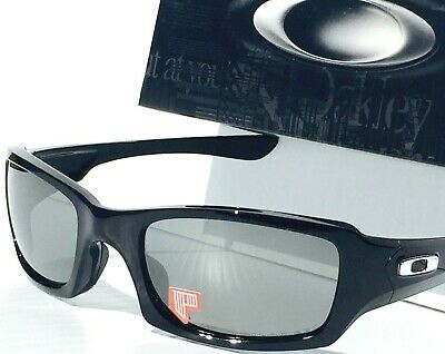ce9be9ed81969 NEW  OAKLEY FIVES Squared BLACK w POLARIZED Grey Lens Sunglass 9238 ...