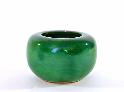 1930's Chinese Green Crackle Glaze Monochrome Porcelain Scholar Water Coupe Pot