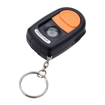21mm LED Light Jewelry Magnifier Magnifying Glass Loupe & Compass Keyring 2 O5G7