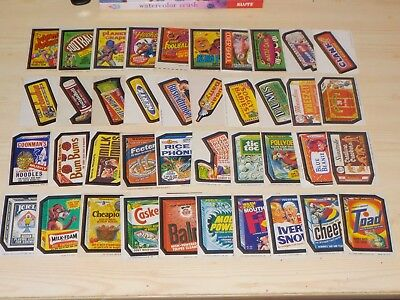 1973-1975 Topps Wacky Packages Lot of 296 Different Sticker Cards Nice Condition