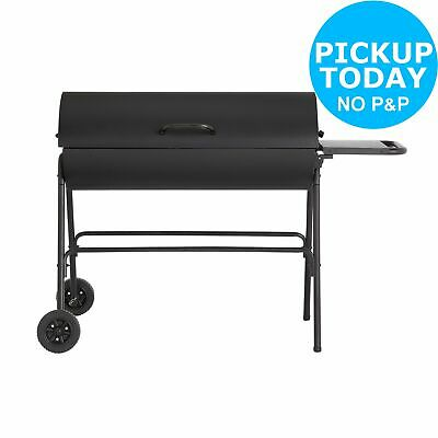 Extra Large Charcoal Oil Drum BBQ.