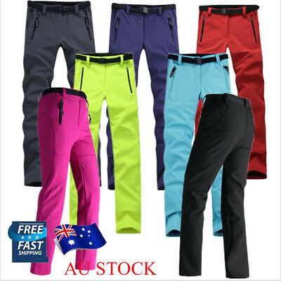 AU Women Waterproof Windproof Hike Snow Ski Pants Trousers Breathable Soft Shell