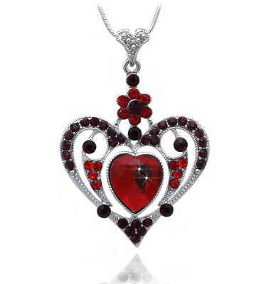 Heart Pendant Necklace Mothers Day Birthday Gift for Wife MOM Crystal GIFT BOX