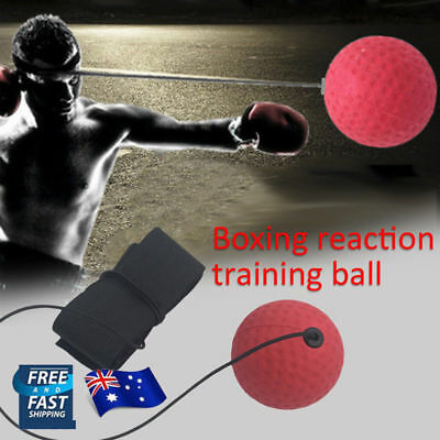 AU Fight Ball Head Band For Reflex Reaction Speed Training Boxing Punch Exercise