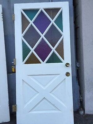 Exceptionnel Front Door Farmhouse Style Door Cottage Style With Colored Glass 79 1/2 X