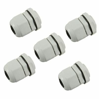 5 x M20 20mm White Waterproof Compression Cable Stuffing Gland Lock V0D1 V9L5