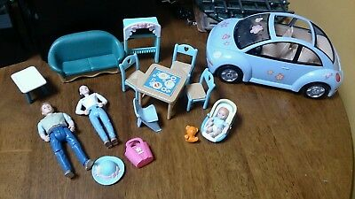 Loving Family TOYS LOT Mother Father Baby CAR Furniture Accessories BULK