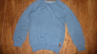 BEN SHERMAN - Boys Blue  Cotton Crew Neck Jumper - Age 6 - 7 Years