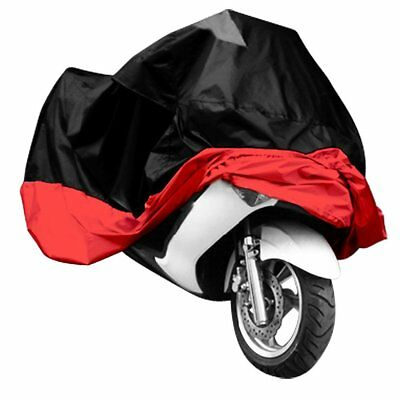 MOTO COVER TARP Covers Motorcycle ATV large size XXXL red black sports prot T5N7