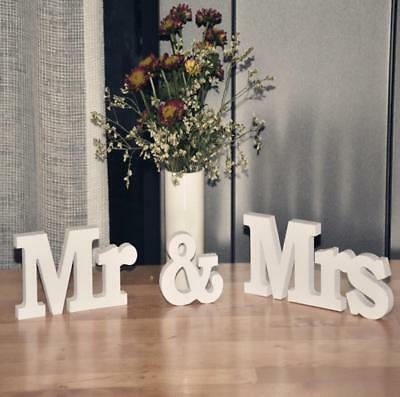 New Mr & Mrs Sign Letters Standing Top Table Wedding Personalised Decoration