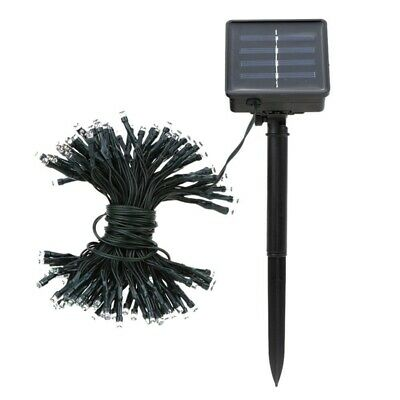 17m 100 LED Colorful Waterproof Outdoor Solar LED Light Fairy String Garden S5S8