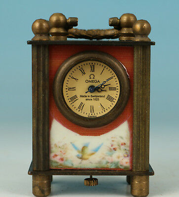 Europe Copper Made Hand-mechanical Used conjoint Culture nice Clock