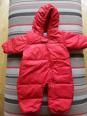 columbia snuggly bunny snowsuit 6-12 months