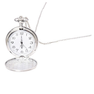 Cool Chrome Chain Pocket Watch (Silver) X5Q8 R8E4
