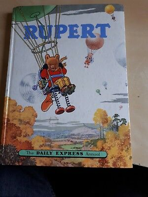 RUPERT BEAR DAILY EXPRESS ANNUAL 1957 VINTAGE COMIC STRIP 1950s