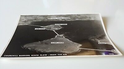 1 x postcard of churchill barriers,scapa flow from the air