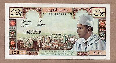 MOROCCO - KINGDOM - 5 DIRHAMS - 1969/AH1389 - P53f