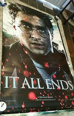 Set of 4 Harry Potter and the Deathly Hallows movie banner poster