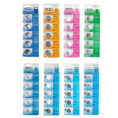 5x 10x CR2025 2032 1216 1616 1620 1632 2016 1220 3V Li COIN CELL WATCH BATTERIES