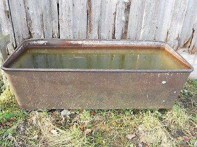 Architectural Salvage Vintage Cast Iron Water Trough