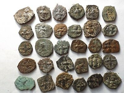 Lot of 30 Ancient Roman Byzantine Coins; 114.1 Grams!