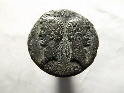 Higher Quality Roman As Coin; Augustus and Agrippa; 11.2 Grams!