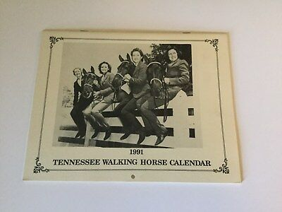 1991 TENNESSEE WALKING HORSE Calendar w/Vintage Photos of Famous Horses TWH
