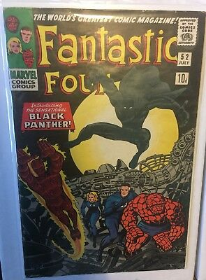Fantastic four #52 Vol 1 - Marvel comics - First Appearance Of Black Panther