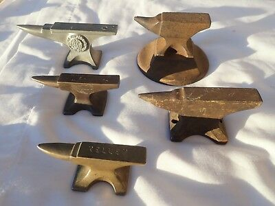 Advertising Anvil Small Jewelers Anvil Salesman Anvil Lot (5) Black Smith Anvil