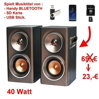 hifi heim musik anlage bluetooth usb mp3 verst rker schwarze standboxen audio eur 138 90. Black Bedroom Furniture Sets. Home Design Ideas