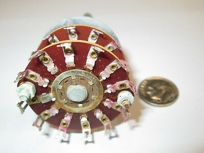 Crl Phenolic Rotary Switch  2 Pole - 11  Positions   Non Shorting   1 Pcs.  Nos