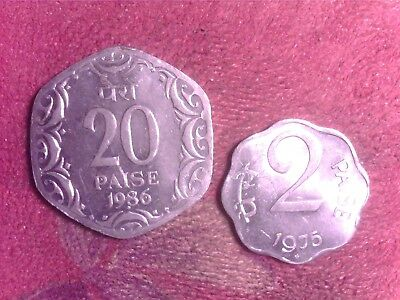 India  2 Paise   1975    20 Paise    1986