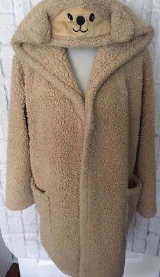 Cozy Critters Dog Hooded Bath Robe Sleepwear Size One Size fits Most