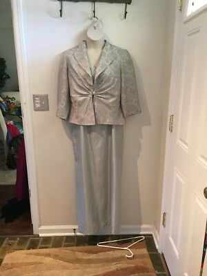 Womens Formalwear Dress With Jacket Size 16 Jessica Howard Lined With Detail