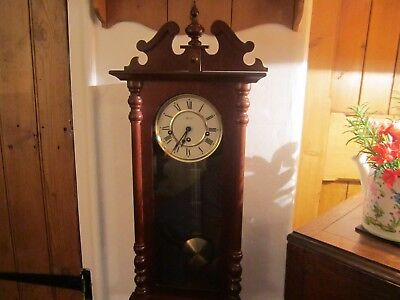 Vintage Westminster Hermle  Wall Clock In V.g.w.o.