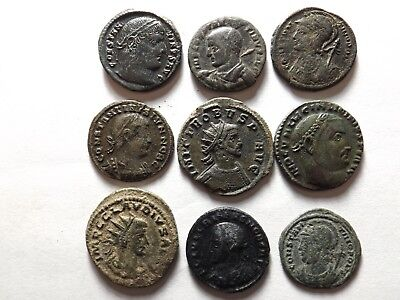 Lot of 9 Higher Quality Roman Coins; Probus... 23.3 Grams!