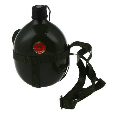 Aluminum Military Water Bottle with Shoulder Strap Military Army Canteen M3 Z2F3