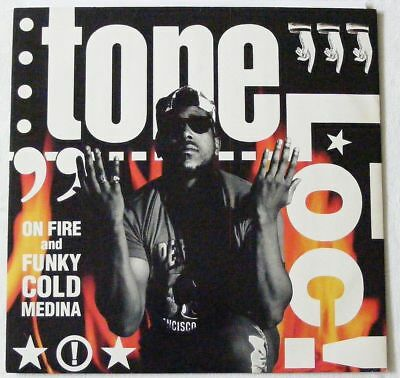 "TONE LOC UK 1987 12"" Single ON FIRE - FUNKY COLD MEDINA"