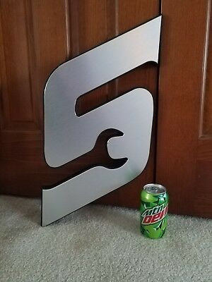 """Snap on tools logo wrench """"S"""" plaque sign  *FREE SHIPPING*"""