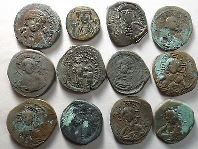 Lot of 12 Quality Larger Roman Byzantine Coins; 127.2 Grams!