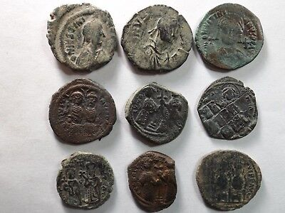 Lot of 9 Mixed Quality Larger Roman Byzantine Coins; 99.0 Grams!