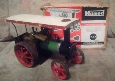 Rare Mamod TE1 Steam Traction Engine, Circa 1965 Working Order with original box