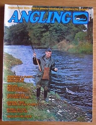 Angling magazine - September 1975 (Richard Walker, Grayling, Tench, Peter Stone)