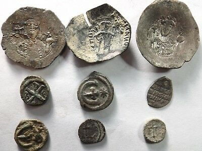 Lot of 9 Quality Roman Byzantine Coins; 18.2 Grams!